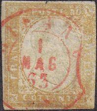 Italy - Sardinia 1858 80c Victor Emmanuel II sg 57 used ? 1 May 1863