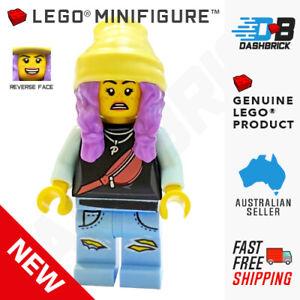 Genuine LEGO Minifigure - Parker L. Jackson, Black Top, Beanie - [CITY/TOWN] NEW