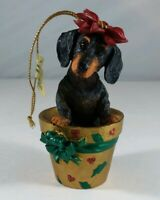 """I Dig Christmas"" Danbury Mint Dachshund Christmas Holiday Collectible Ornament"