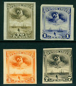 ARGENTINA 1870s BUENOS AIRES - Mercury, Dove, Sailing ships 1-70p  PROOFS/ESSAYS