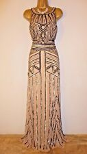 """Phase Eight Collection 8 """"Cygnus"""" Nude/Beige Maxi Dress Size 10 Petite BNWT"""