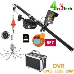 4.3 Inch Color DVR Recorder IR LED Underwater Fishing Video Camera fishing hooks