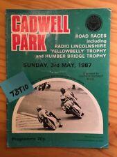 SPORT ADVERT MOTOR RACING GRAND PRIX CADWELL PARK POSTER ART PRINT BB12680A