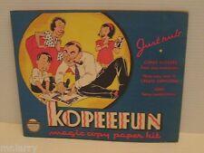VINTAGE 1940 KOPEEFUN CARTOONS MAGIC COPY PAPER KIT KIDS COPY ART KIT BOOK