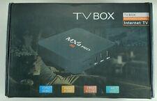 TV Box MXQ PRO 4K Internet TV CPU 64 Bit CPU 4 Core New with Remote NEW OPEN BOX
