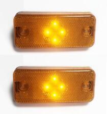 2 x orange bernstein LED Blinker Seitenmarkierungsleuchten für Fiat Ducato