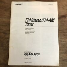 Sony ST-S505ES ST-S707ES FM AM Stereo Tuner Operating Instructions Manual OEM