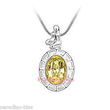Collana Donna Cristallo Swarovski Elemensts Costellazione Vergine Giallo A34