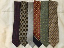 AUTHENTIC Lot of 6 *VERSACE* ICONIC MEDUSA HEAD SILK NECKTIES TIES Free Shipping