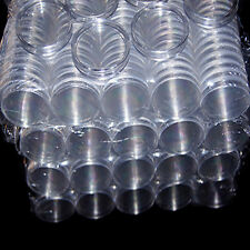 30mm 10x Applied Clear Round Cases Coin Storage Capsules Holder Round Plastic NE