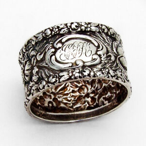 Stieff Rose Small Napkin Ring Sterling Silver 1914 GFK