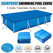 Rectangular Heat Retaining Solar Swimming Pool Cover For Above-Ground Pool .-