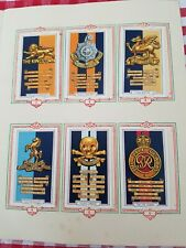 More details for complete 1939 gallaher army badges cigarette cards in park drive album military