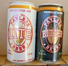 Collectable beer cans -  Set of 2 Payless Bitter / Lite 375ml cans