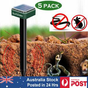 5X Solar Garden Snake Repellent. Ultrasonic Mole Rat Mice Deterrent Pest Control