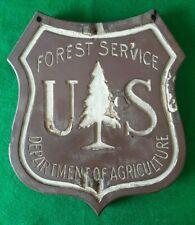 Vintage Wooden Sign US Forest Service Department of Agriculture Tree Sign