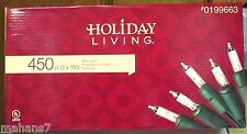 Holiday Living 450 Ct Mini Clear Lights Green Wire
