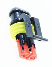 1 AMP SUPERSEAL Stecker Buchsengehäuse 2p wasserdicht Gehäuse