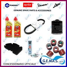 Kit tagliando vespa gts mp3 X7 XEVO 300 cinghia candela 2LT olio filtri rulli