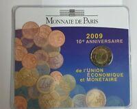 Coincard mit 2 Euro Gedenkmünze Frankreich 2009 BU  EMU / WWU  / Blister