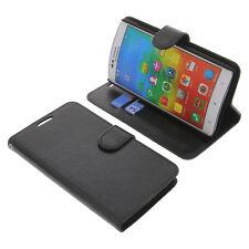 Custodia per Lenovo A816 Smartphone a libro protettiva NERO