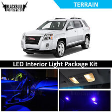 Blue LED Interior Lights Package Accessories Kit fits 2010-2017 GMC Terrain