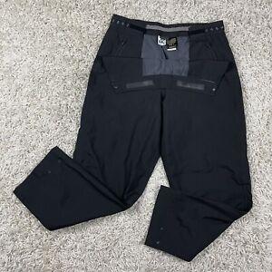 Vintage Zero Restriction Women's GORE-TEX Black Snap Adjustable Golf Pants M