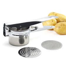 Potato Ricer Handheld Smooth Fruit Vegetable Masher Puree Juicer Make Steel Mash