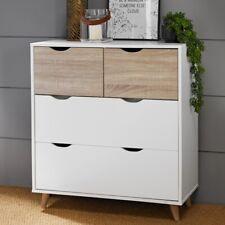 Sweden 4 Drawers Chest Bedroom Sonoma Oak White Scandinavian Style