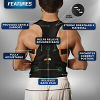 Back Posture Corrector Support Lumbar Magnetic Shoulder Brace Belt For Men Women
