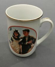 "Norman Rockwell Young Love Porcelain Mug / Cup 4"" Tall"