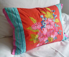 Paoletti Tilly Pink & Red Embroidered Cushion Cover 100% Cotton 35 x 50cm