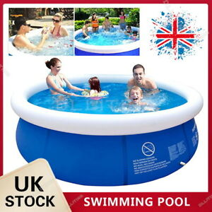 """8/10"""" Family Swimming Pool Garden Outdoor Summer Inflatable Kids Paddling Pools"""