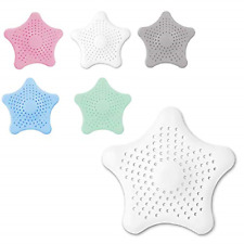 Drain Hair Catcher 6 Pack, Sink Drain Strainer Silicone Drain Covers Drain for