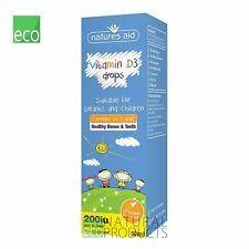 Natures Aid Vitamin D3 400iu Drops Infants & Children Healthy Teeth Bones 50ml