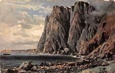 Norway The North Cape Bay, Oilette 1908