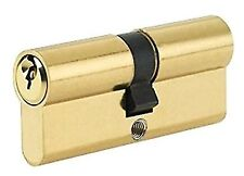 DOUBLE EURO PROFILE CYLINDER 6 PIN 40/40 80mm BRASS  [ 7277 ]