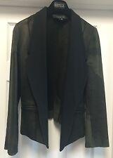 NWOT ALEXANDER WANG Black Distressed Leather Tuxedo Moto Jacket Sz S