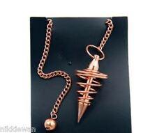 Cuivre plaqué pendule matching chaîne et perle bobine radiesthésie outil divination!!