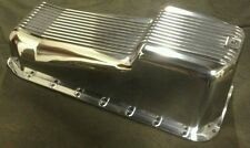 Small block chevy oil pan polished finned aluminum