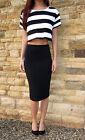 EXTRA LONG TALL Jersey Tube Skirt Midi Length Plain Print Size 8 10 12 14 16 18