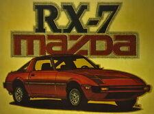 80s mazda RX7 glitter vintage retro tshirt transfer print, non glitter, new, NOS