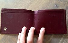 NOS VINTAGE ROLEX DAY DATE 1960'S PRESIDENT BURGUNDY WALLET FOR COLLECTORS