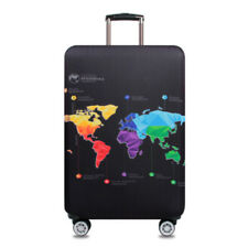 S M L XL Elastic Suitcase Protector Travel Luggage Protector Cover Abstract Map