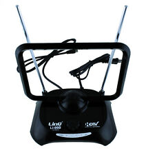Antena Digital Portatil 38 dBi DVB-T HDTV TDT TV Receptor Amplificador Negra