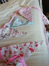 Fabric Multicoloured Floral Bunting