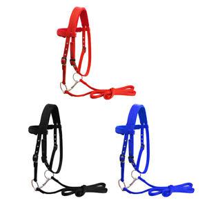 Durable Soft Nylon Horse Bridle Adjustable Headstall High Density Halter