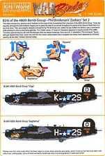 Kits World Decals 1/144 B-24 LIBERATOR 468th Bomb Group Zodiac Set #2