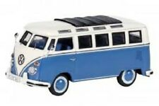 Schuco 1:43 VW T1 Samba - blue with white