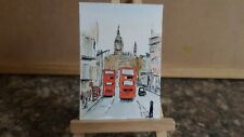 """Original Watercolour Painting ACEO """"City Of London""""  by Colin Coles."""
